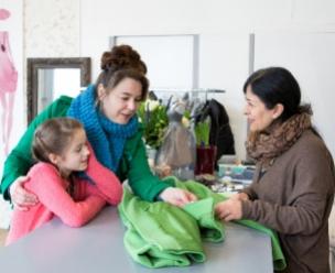 Vluchteling heeft een eigen naaiatelier