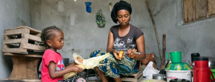 Vluchteling in gesprek over terugkeer naar Sierra Leone