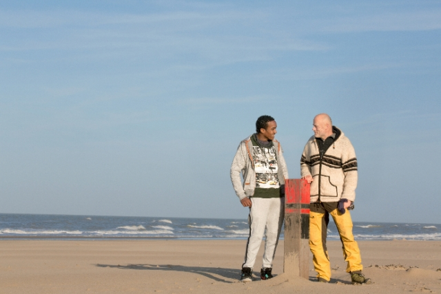 Vluchteling Teklit en Marcel, vrijwilliger van VluchtelingenWerk