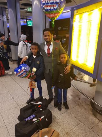 Semere uit Eritrea is eindelijk herenigd met zijn twee zoons
