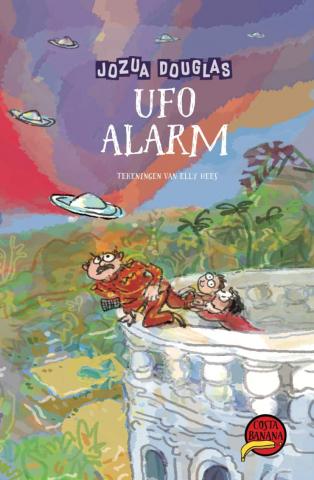 Kidsweek gaf vluchtelingkinderen het boek UFO Alarm cadeau