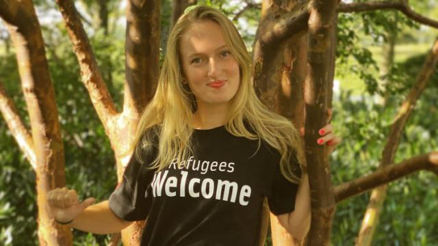 Lieke liep de alternatieve Vierdaagse voor VluchtelingenWerk